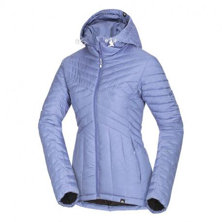 NORTHFINDER dámská bunda s imitací peří trendy krátká CELIA