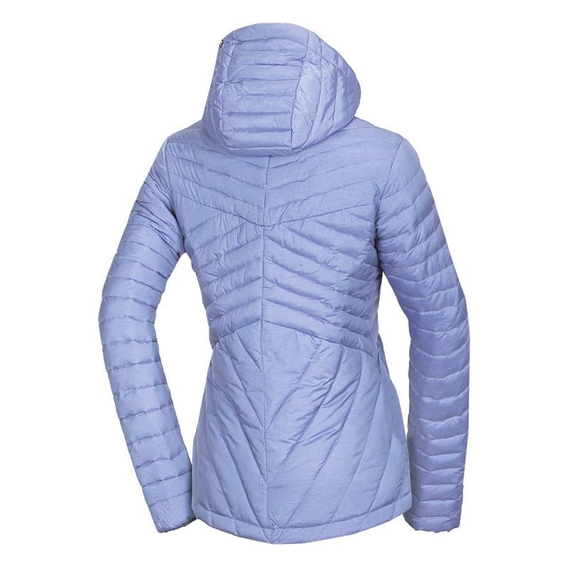 NORTHFINDER dámská bunda s imitací peří trendy krátká CELIA - Univerzální zimní bunda určená do vlhkého a větrného počasí. Vnitřek této lehké bundy tvoří imitace 3D vláken - tepelná izolační vrstva, která sestává ze syntetických vláken, svým tvarem připomíná peří a vlastnosti mají velmi podobné. Zimní bunda je ideální na volnočasové aktivity - hodí se na běžné nošení do města nebo práce. Bundu můžete využít i při hrách na sněhu či na lyžování.