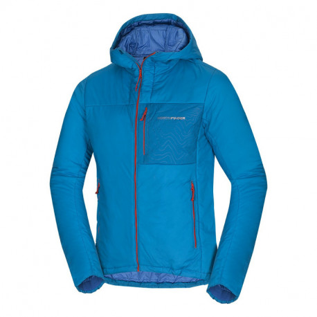 NORTHFINDER men's mid-layer jacket Primaloft® Insulation Eco Black ESTEBAN