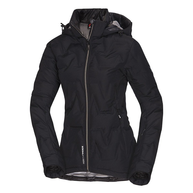 NORTHFINDER dámska bunda zateplená lyžiarsky štýl Primaloft® ThermoPlume ZIG - NORTHFINDER dámska bunda zateplená lyžiarsky štýl Primaloft® ThermoPlume ZIG