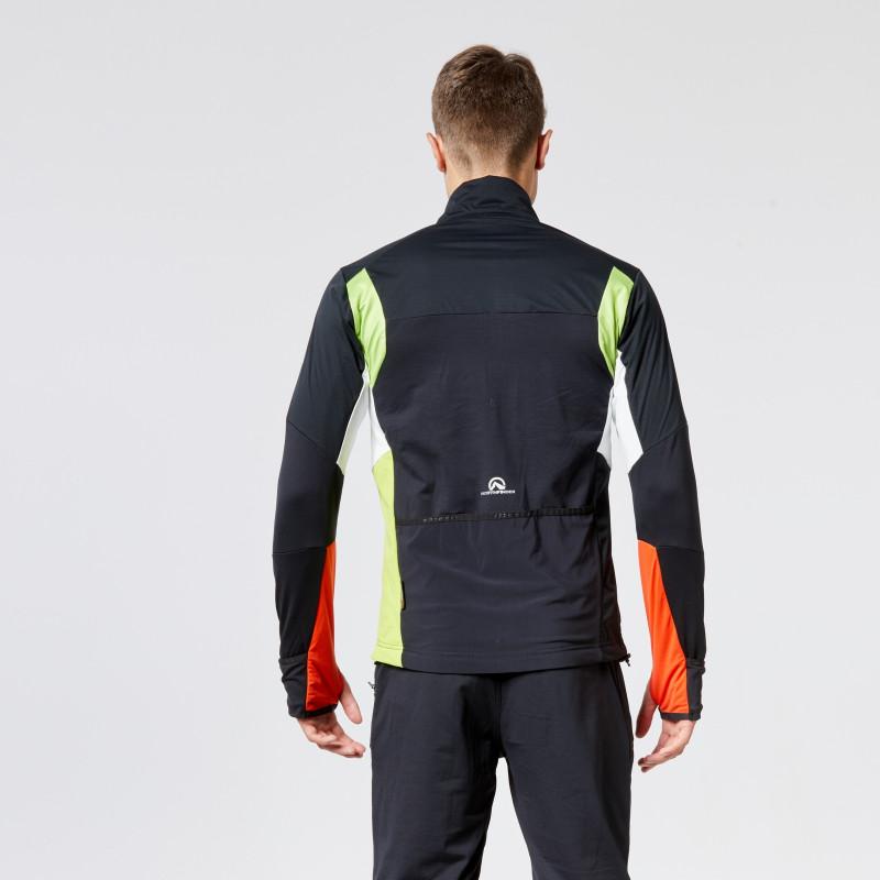 NORTHFINDER pánská ski-touring bunda Polartec® Power Stretch® PRO LINGO - Bunda z dílny NORTHFINDER patří do série LIGHT LINE SKI-touringového oblečení. Lehká hybridní bunda je určena pro intenzivní sportovní aktivity v chladném prostředí. Její propracovaná hybridní konstrukce ji předurčuje zejména pro ski-touringové či skialpinistické výstupy. Své kvality ukáže i při běhu nebo běžeckém lyžování. Bunda vyniká kombinací elastických materiálů jako Polartec® Power Stretch® nebo Polartec® Power Grid® nebo ultralehkou nepromokavou membránou, která chrání kritická místa před vnější vlhkostí. Aby bunda poskytovala vždy co nejlepší výkon, použili jsme funkční materiály na přesně určených místech. Celý zádový panel a část rukávů jsou proto z prodyšného a strečového materiálu Polartec® Power Stretch®. Jeho úkolem je odvádět přebytečnou teplotu a vlhkost. Stejnou funkci má i tenká, extrémně elastická tkanina v podpaží. Rukávy, ramena a celou přední část tvoří tenká nepromokavá a větruodolná membrána. Právě tu oceníte při předním větru nebo rychlém sjezdu. Membrána je z vnitřní strany ve specifických zónách podšitá lehkým funkčním materiálem Polartec® Power Grid®. Ten díky jedinečné mřížkové konstrukci rychle odvádí a rozptyluje pot a přitom snižuje hmotnost oblečení. Do několika kapes se zipem lze uschovat to nejnutnější, co potřebujete mít s sebou. Otevřené cyklokapsy zase pojmou gely, láhev nebo nepromokavou bundu. Elastické manžety na rukávech s fixací palce se zase ve vteřině promění na rukavice. Účinné stahovače na bocích brání shrnování bundy a odkrytí nechráněných míst. Celkový sportovní úzký střih dokonale sedne, přizpůsobí se pohybu a zvyšuje užitnou hodnotu této bundy pro sportovce.
