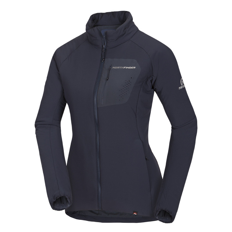 NORTHFINDER women's jacket Primaloft® Gold Insulation Active ® OSTRVA - Jacket from the latest Primaloft® innovative material. Primaloft® ThermoPlume is a very gentle and warming material with a feather-like structure. Long-lasting water-repellent treatment and very good packability. Users remain dry and warm even in extreme conditions.