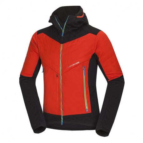 NORTHFINDER pánská ski-touring bunda zateplená Primaloft® izolace Eco Black SANTIGO