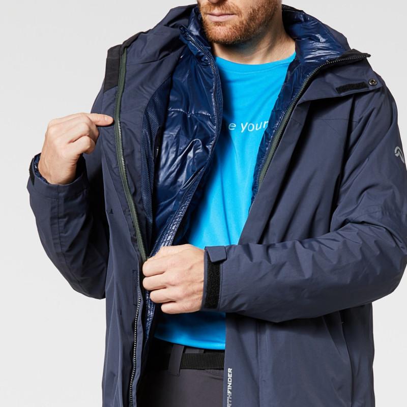 NORTHFINDER pánská 3v1 bunda Travel 2L WALKER - Vodoodpudivá outdoorová bunda 3 v 1 s odepínatelnou vnitřní vložkou, kterou lze nosit samostatně jako bundu. Bunda se snadno přizpůsobí každé outdoorové aktivitě po celý rok.