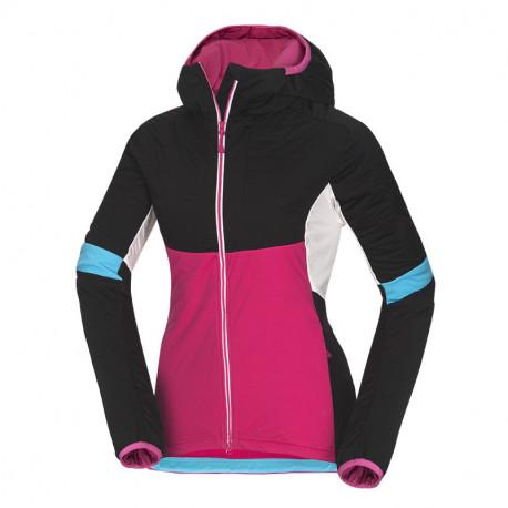 NORTHFINDER dámska SKITOURING bunda zateplená Primaloft® izolácia Eco Black VINCENZA
