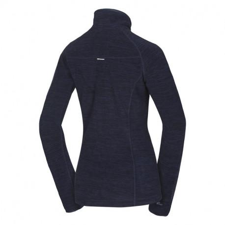 NORTHFINDER dámská mikina thermal melanžové fleece AUBRIANNA