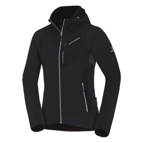 NORTHFINDER pánska mikina Polartec® Power Wool® hooded BANIKOV