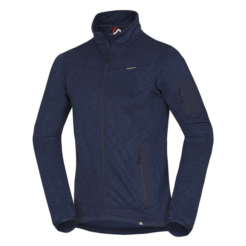 NORTHFINDER men's full-breathable sweater power-stretch melange BRUNO - Functional sweatshirt provides perfect comfort during activities and sport. An ideal top layer in dry weather or second layer in winter.