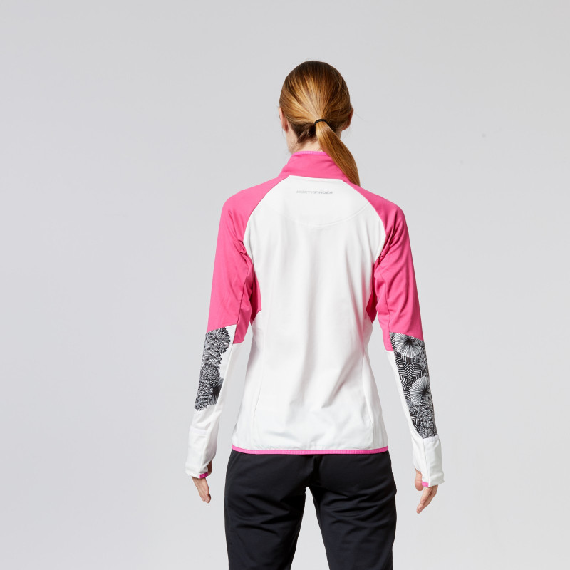 "NORTHFINDER women's ski-touring sweater Micro fleece IRWA - This technical sweatshirt ,, Light series ""skitouring by brand NORTHFINDER. This extremely elastic material is able to retain heat and provides excellent natural ventilation during the ascent on the slope or in extreme sports. Sweatshirt is designed primarily as a supplement to protect against the cold, especially in higher elevations, wind ridges, but can also be used with conventional winter sports such as running, cycling etc. Ideal for combining as a middle layer under SKITOURINGinistickú jacket Vincenzo (BU-4651SNW), or we can use it under emergency waterproof program NORTHKIT (waterproof jacket - WP 1 mm MVP: 1 g / m2 / 24h). With widgets such as bonding technology, adjustable lower end, or elastic cuffs sweatshirt IRWA is an excellent choice for your SKITOURINGové outputs. certainly we will not disappoint you!"