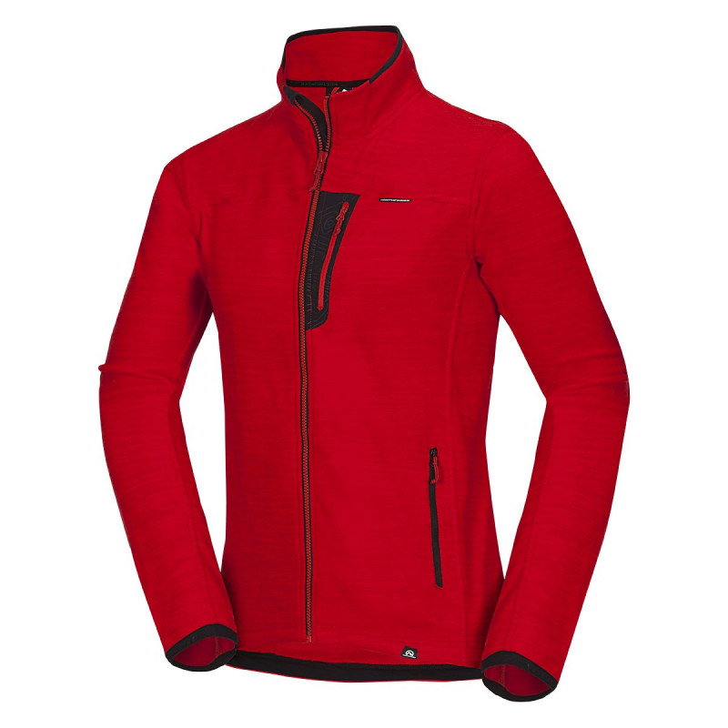 NORTHFINDER men's thermal sweater melange fleece NorthPolar® Fleece 200 JAIME - Fleece sweatshirts feature excellent breathability and thermal comfort, low wear, and durability of shape and colour. Suitable as a second thermal layer or under a jacket.