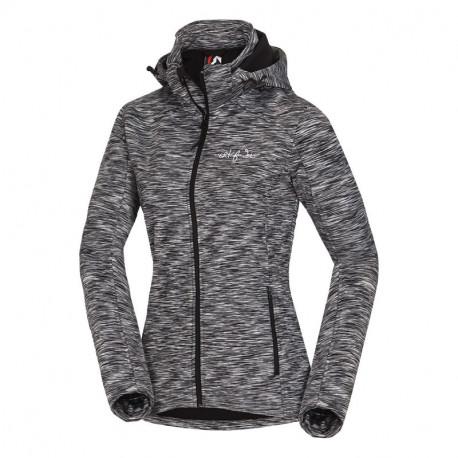 NORTHFINDER women's bonded jacket melange hooded LILU