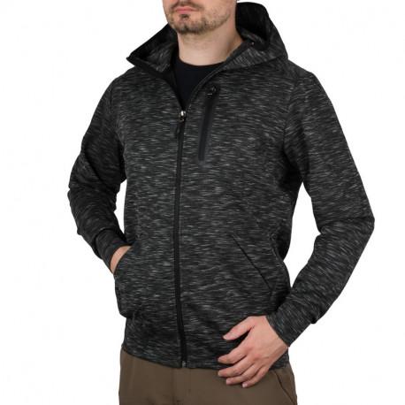 NORTHFINDER pánská softshellová bunda melažová s kapucí LONNCY