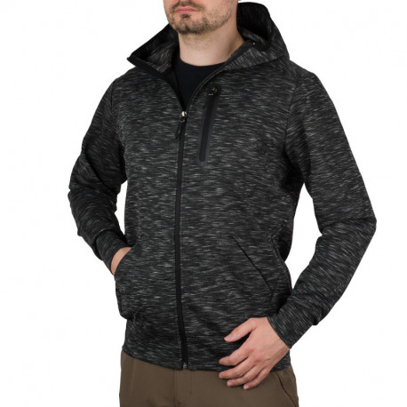NORTHFINDER pánska softshell bunda melažová s kapucňou LONNCY