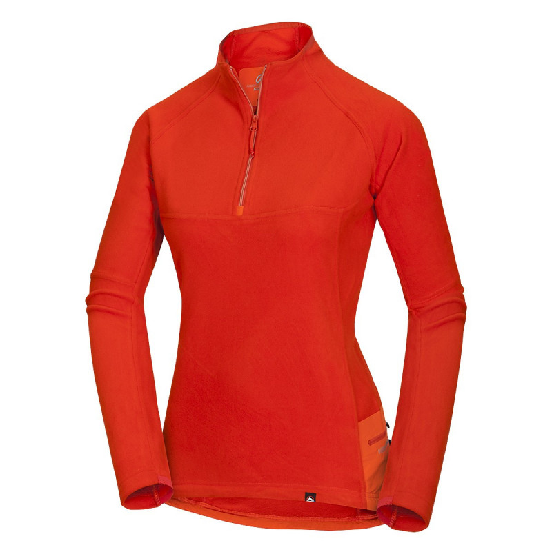 NORTHFINDER women's sweater Polartec® Classic Micro® 100 SMREKOVICA - Polartec® Classic Micro material reliably warms in cooler conditions while providing ample moisture removal.Functionality with sophisticated technical details are strongly emphasised: laser cutting, adhesive technology, etc. This sweatshirt is suitable for hiking, as well as casual wear on cold days.