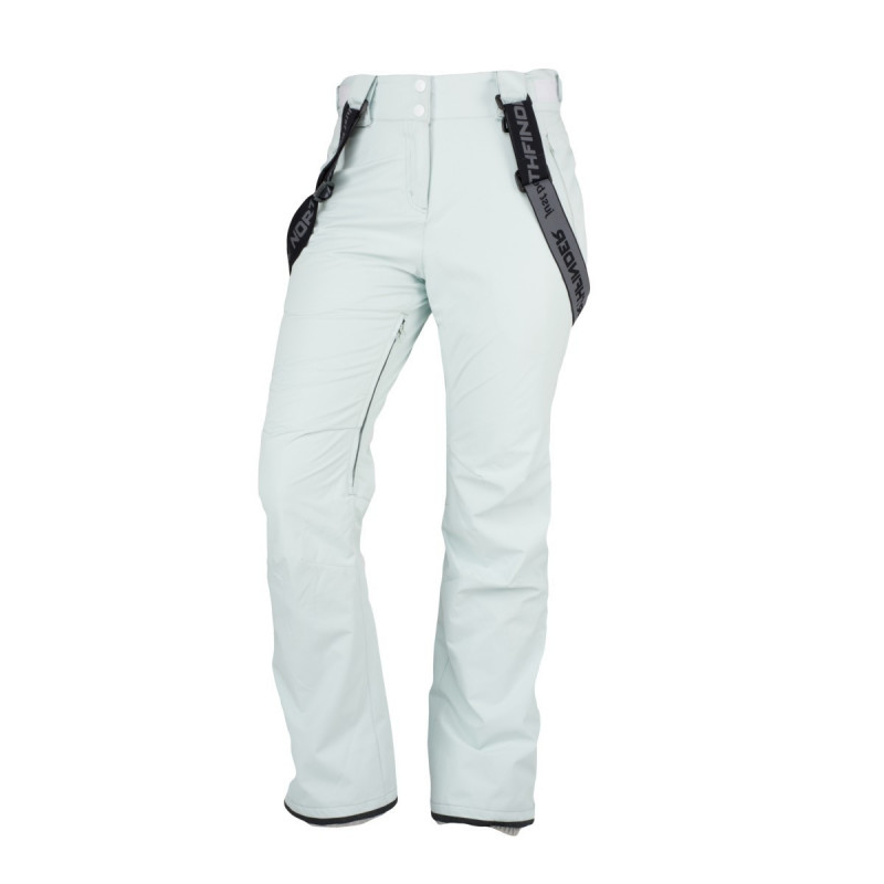NORTHFINDER women's insulated trousers easy rider 2-layer DANIELLA - Technical waterproof trousers are suitable for skiing as well as snowboarding. They provide high protection in adverse weather with practical removable braces, insulated pockets, and many more features. They ensure maximum freedom of movement in all weathers in all terrains.