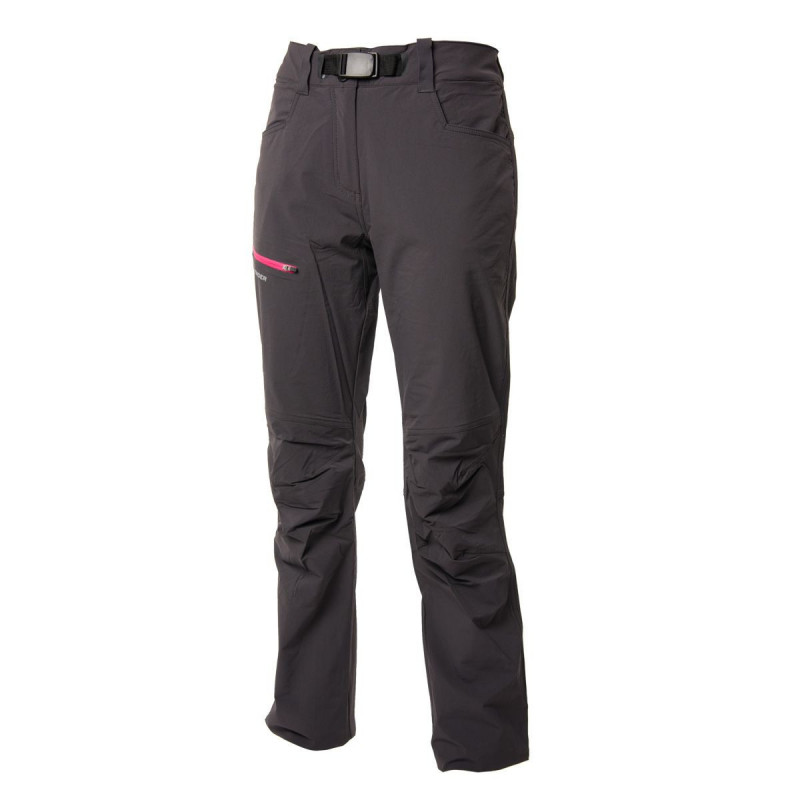 NORTHFINDER women's trousers promo 1-layer CHANA - Simple hiking trousers of stretch fabric with water-repellent finish. Thanks to outstanding breathability, they a good fit for physically-demanding activities. Field tested cut, articulated knees with practical adjustment elements increase wearer comfort.