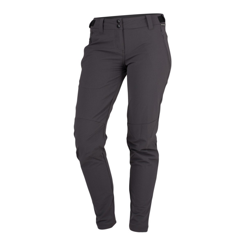 NORTHFINDER women's technical trousers super stretch active 1-layer PAITYN - Lightweight technical material ensures high-quality protection, durability and optimum body temperature during outdoor activities. Freedom of movement is ensured by comfortable cut of trousers, such as slim fit and zip extension of legs at the bottom. Trousers are suitable for hiking, outdoor activities, leisure time, and casual wear.