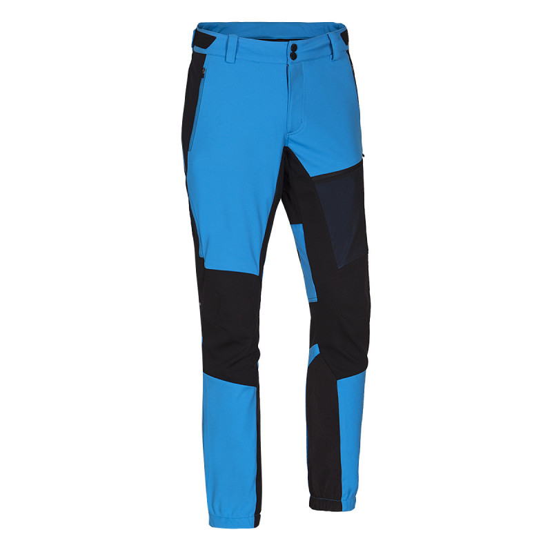 NORTHFINDER men's ski-touring trousers dynamic RODREGO - These exclusive softshell trousers are one of the most practical trousers in NORTHFINDER's Ski-Touring series. The elastic soft-shell material with windproof membrane provides the ideal combination of breathability, warmth retention, non-puff, and wick-ability. Although the trousers are designed primarily for ski-alpinism/trekking, their versatility makes them ideal for year-round outdoor activities. Extremely elastic Polartec® Power Stretch® material is extremely elastic, retains heat and provides excellent natural ventilation during extreme sports. Trousers primarily designed for ski-alpinism/trekking and can also be used for high-intensity activities where excessive sweating is expected, and significant changes in weather conditions at altitude. Ideal in combination with the LINGO (BU- 355SNW) ski-alpine jacket. In cooler conditions it's recommended to supplement with ski-alpine thermal Bermuda VINCEZO (NO-3553SNW), or emergency NORTHKIT waterproof program (waterproof jacket and trousers - WP: 1 mm, MVP: 1 g/m2/24h) With additional extras such as rubber waist with pull-ties, active ventilation tunnels on knees, anti-skid silicone rubber and triangular construction in lower part of trousers, etc. RODREGO trousers are one of the best ski-alpine clothing choices. Try them now!