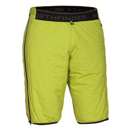 NORTHFINDER pánské zateplené kalhoty ski-touring Primaloft® izolace Eco Black VINCEZO