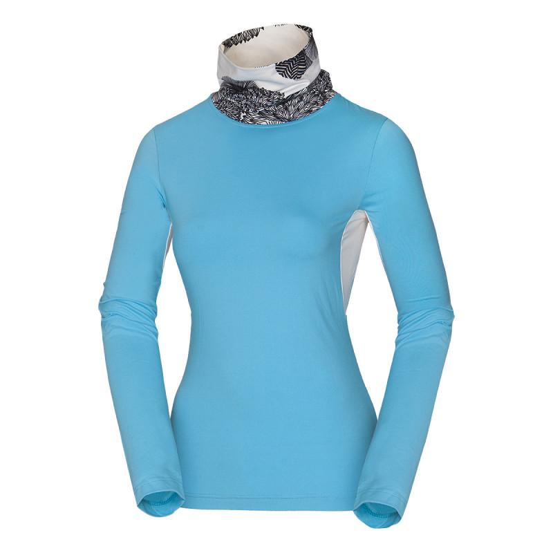 """NORTHFINDER dámské ski-touring triko Thermal strečové FOANA - Dámský elegantní model z """"Light série"""" Ski-touring od značky NORTHFINDER s rolákem. Tento extrémně elastický materiál je schopen udržet teplo a poskytuje vynikající přirozené větrání během výstupu na svah nebo při extrémních sportovních aktivitách. Triko je navrženo primárně jako doplněk ochrany před zimou, hlavně ve vyšších nadmořských výškách a na větrných hřebenech, ale dá se využít i při běžných zimních sportech, jako je běh, běžkování, cyklistika atd. Ideálně se kombinuje jako první vrstva pod ski-touringinistickou mikinu IRWA (MI-455SNW). Představuje skvělou volbu na aerobní aktivity ve vysokohorském prostředí. Určitě vás nezklame!"""