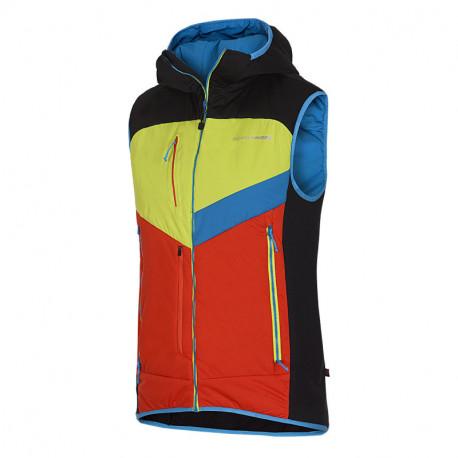 NORTHFINDER pánska SKITOURING vesta aktívny šport zateplená Primaloft® izolácia Eco Black GORGINNO