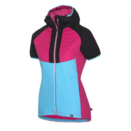 NORTHFINDER dámska SKITOURING vesta aktívny šport zateplená Primaloft® izolácia Eco Black RIKONA