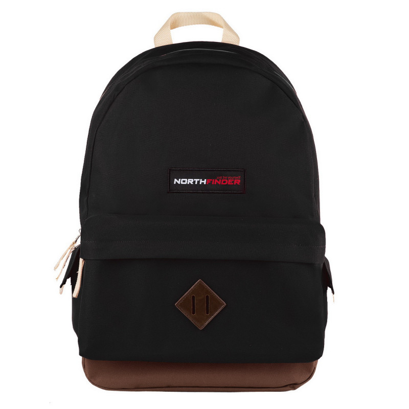 NORTHFINDER backpack 12-layer QUEBEC - Stylish, simple 12l urban backpack with a zippered main compartment and a large front pocket. Thin, adjustable shoulder straps. Reinforced bottom section made of a resistant material.
