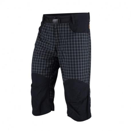 NORTHFINDER pánské šortky free zone kostkovaný styl 3/4 délka MAURICIO