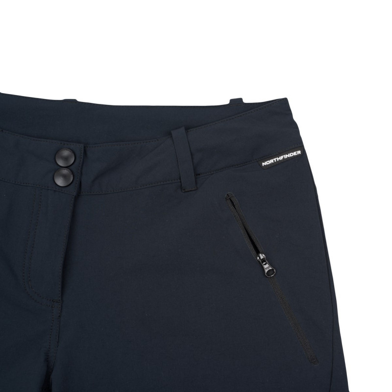 NORTHFINDER women´s stretch shorts 1-layer BRYNLEE - Short Bermudas with waterproof finish are a comfortable solution for your outdoor adventures. Also ideal for leisure time and everyday wear.
