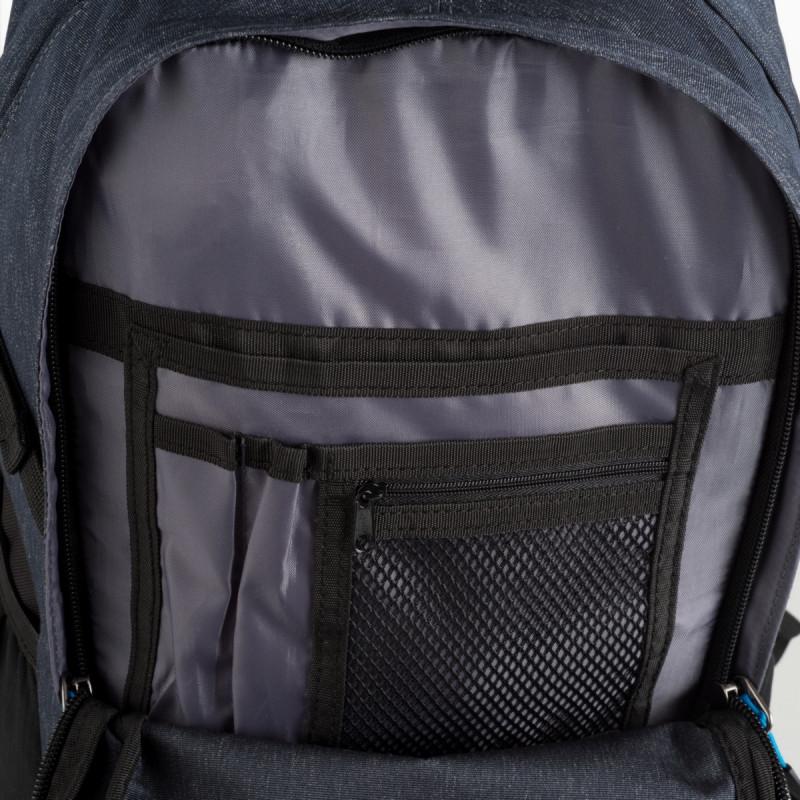 NORTHFINDER unisex backpack hikelite 21L WOLFKIN - A modern light 21-litres rucksack for town and study, large front pocket with print, padded back, adjustable shoulder straps, side compression straps, reflective elements, and side mesh pockets.