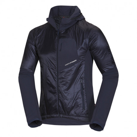 NORTHFINDER pánská bunda zateplená lehká váha Primaloft® izolace Eco Black RODRIGO