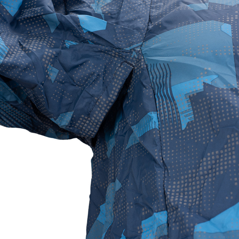 NORTHFINDER men's lightweight jacket allowerprint DEON - Training jacket with attractive cut and functional features is designed for those who love functional sportwear. Ideal for running, cycling, rollerblading, and other sport activities.