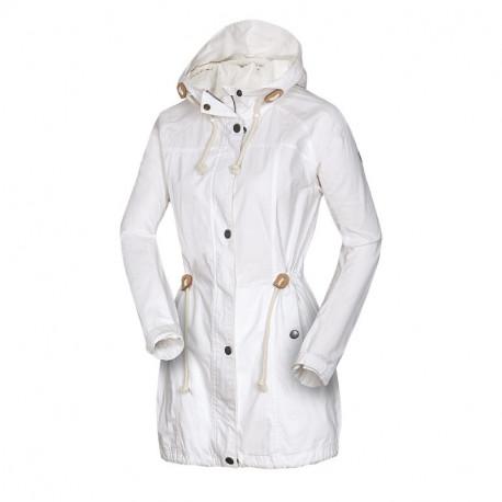 NORTHFINDER dámska bunda pre každodenné nosenie s kapucňou dlhá ILONA