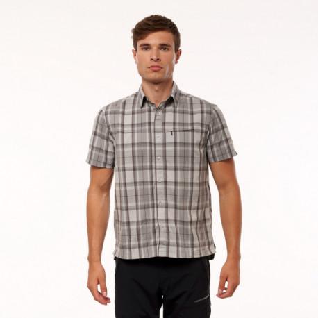NORTHFINDER pánská košile technický outdoor krátký rukáv LEMON