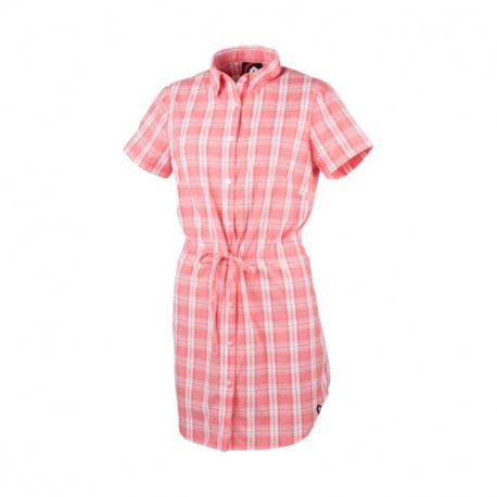 NORTHFINDER dámska košeľa voľnočasová krátky rukáv dlhý štýl LEWINA