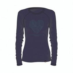 TR-4256SNW dámske tričko cotton heart melange BIBIANA