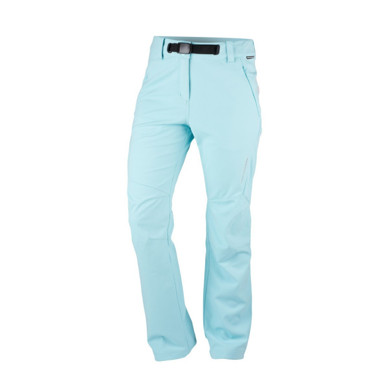NORTHFINDER women's stretch-softshell trousers technical outdoor style 3-layer IVANNA - Technical outdoor trousers offer a three-layer soft-shell material that protects from the wind. They have a high level of breathability, and are durable and suitable for demanding hikes during the cold season.
