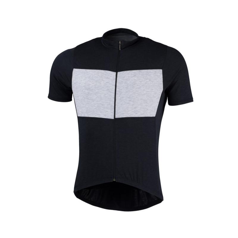NORTHFINDER pánské triko cyklistické merino melanžové JUDAH - Pánský dres je na zádech vybaven protiskluzovým páskem, který zabraňuje nežádoucímu vyhrnování při jízdě. Pro zvýšení bezpečnosti jsou použity reflexní prvky. Dres je vyhledávaným cyklistickým doplňkem i pro náročné, závodně orientované cyklisty.