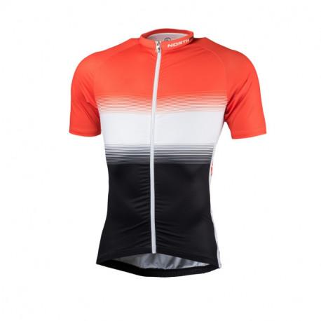 NORTHFINDER pánské tričko cyklistické celopotištěné slim fit VALENTINO