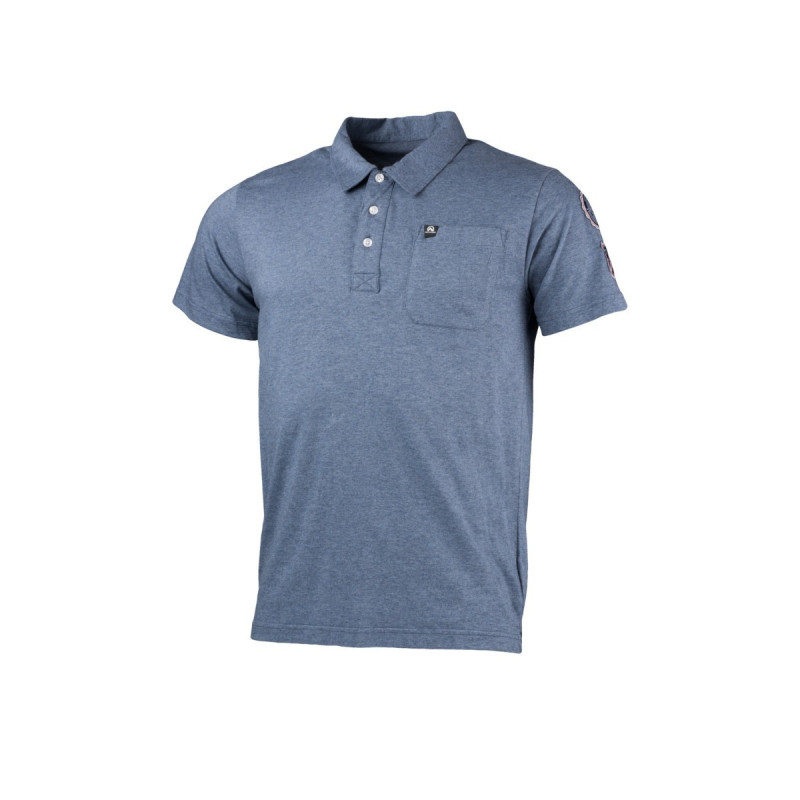 NORTHFINDER men's polo t-shirt melange cotton BERTIN - Functional original design cotton polo shirt. The shirt is smooth, flexible, light, and comfortable, and ideal for everyday wear as well as outdoor activities.