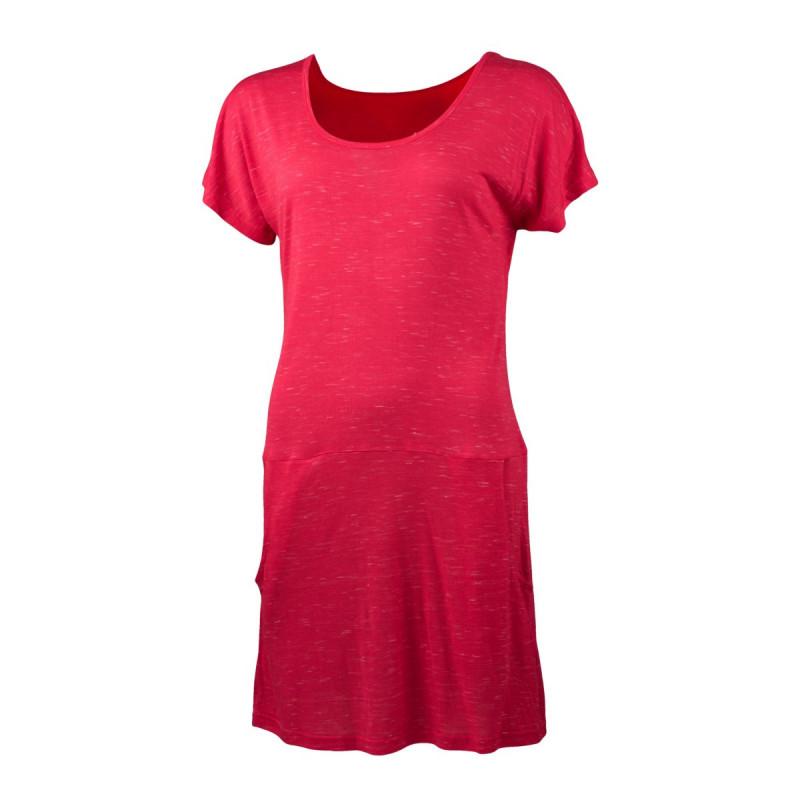 NORTHFINDER dámské triko jednoduché dlouhý styl IRWA - Triko prodlouženého střihu vytváří vzhled letních sportovních šatů. Triko je příjemné na dotyk, pružné, lehké, komfortní a je vhodné na sportovní aktivity, ale i běžné nošení.