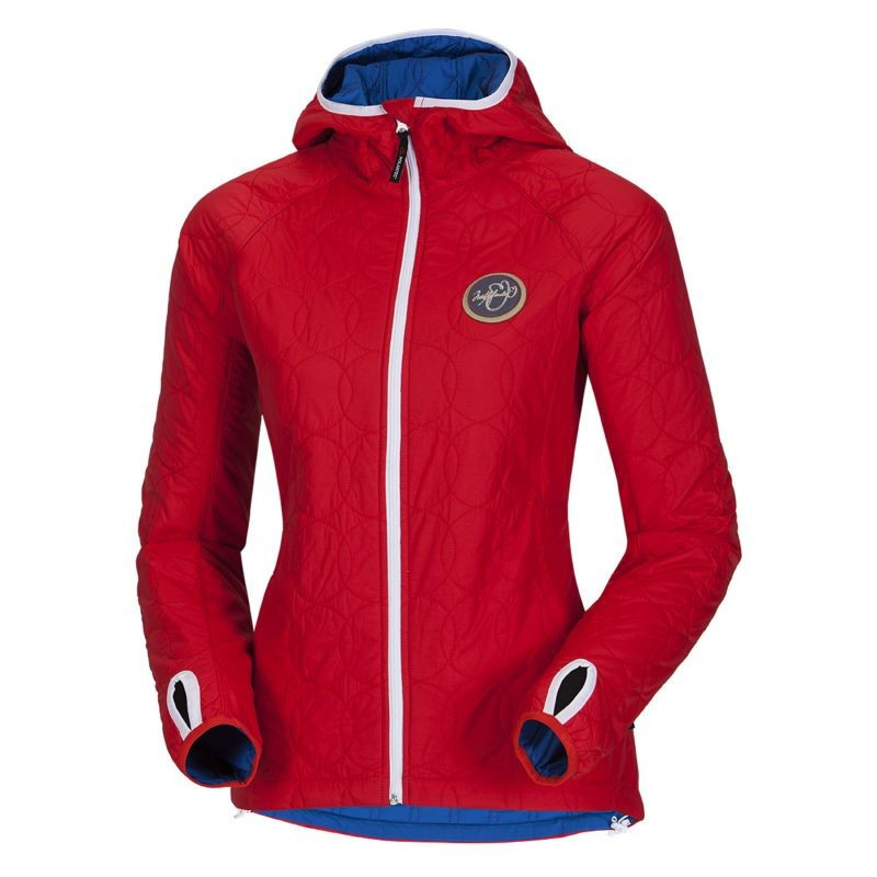 "NORTHFINDER women's jacket Polartec® Alpha insulated AZALEA - This jacket ladies' jacket is made of ultra lightweight fabrics hydrophobic and insulation provided by Polartec® ALPHA®. It is a new unique thermal insulation synthetic, which offers a rare combination of light, warm and breathable material also in ""inflated"" style. This lightweight and packable jacket is well suited for a transitional period or a second thermal insulation layer under the top coat."