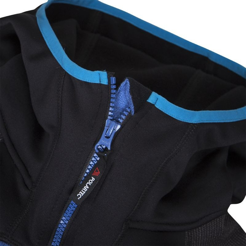 NORTHFINDER men's sweater Polartec® Thermal Pro® JUSTIN - This sweatshirt JUSTIN is effectively thermal insulated in all directions. The popular full-length hooded technical sweatshirt is the result of several years of innovation. It was designed as a middle insulation layer under a hardshell jacket. We have reinforced the critical points where the wear is due to friction with the top layer with a durable material that prevents wear on the fleece and prolongs its functional performance. Improved Polartec® Thermal Pro® fleece keeps heat, regulates body temperature, all with minimal weight. Improved cut lives on your movement, extended sleeves with fixation on the thumb do not roll spontaneously and the extended back with elastic hem extends to the back part. Thanks to the shaped high collar, the ergonomic hood comfortably surrounds the head, not obstructing the view or movement. Well-placed zippered pockets heat up the palms and hold all the little things. JUSTIN is a All year, extremely pleasant and versatile sweatshirt. It has proven itself as a thermal insulation layer on long autumn treks to the North, under a rock and to a summer campfire.