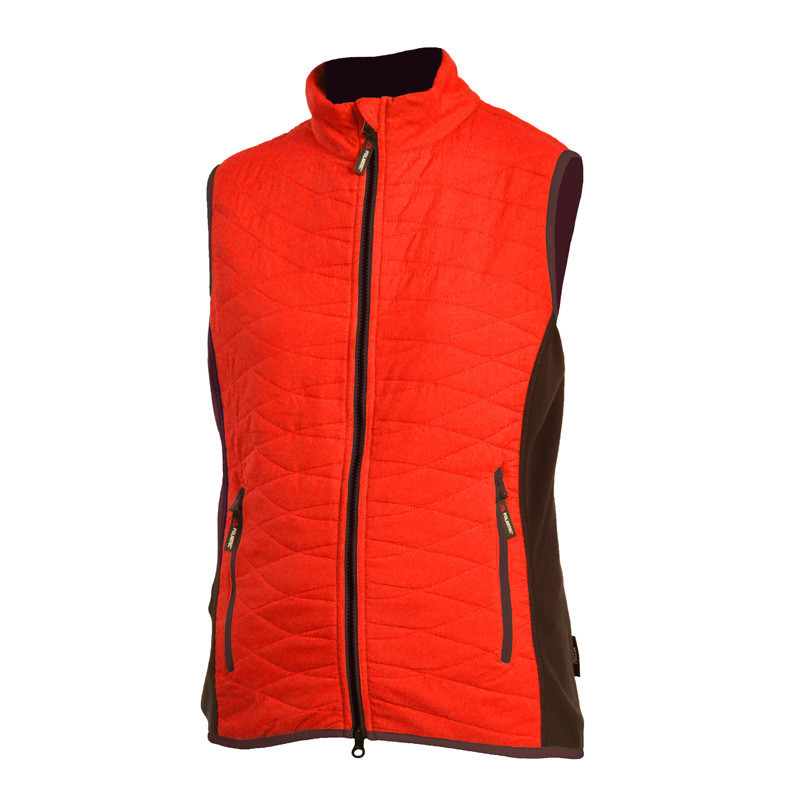 """NORTHFINDER women's lightweight vest waterproof PAYTON - This ladies vest jacket is made of ultra lightweight waterproof fabric and insulation provided by Polartec® ALPHA®. It is a new unique thermal insulation synthetic, which offers a rare combination of light, warm and breathable material also in """"inflated"""" style. Fill guarantees comfortable to wear at low temperatures and snow showers. Suitable for daily use in combination with an intermediate jacket or sweater."""