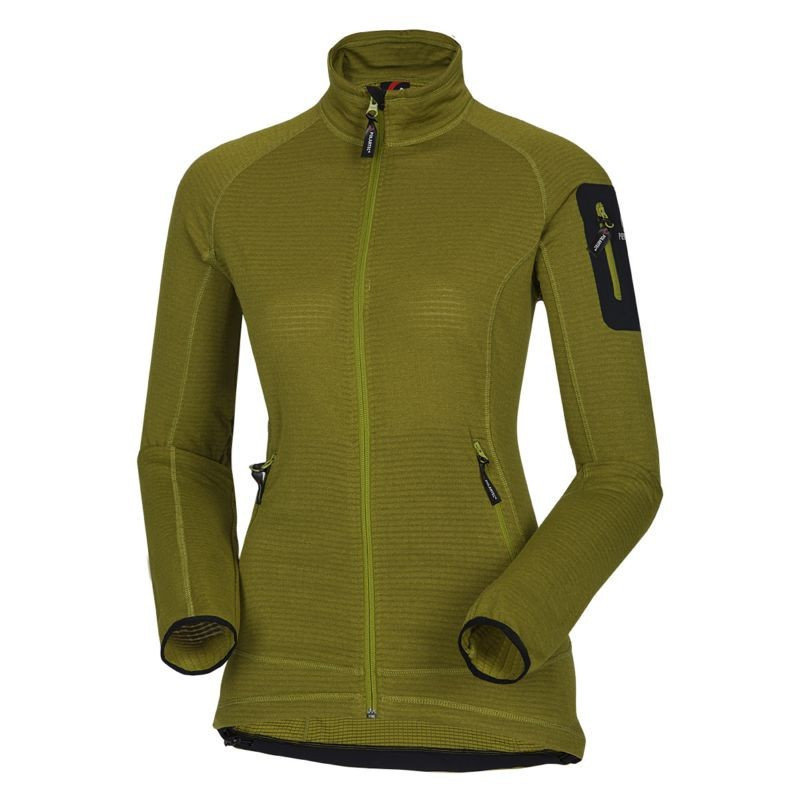 NORTHFINDER women's sweater Polartec® Power Dry FLOCHOVA - This ladies' hooded used Polartec® Power Grid good moisture away from your skin. Just for this property is suitable for sports activities like running, skiing and outdoor. Just fast drying feature is important in reducing the weight of the material. Designed as a lower layer, or as an intermediate layer in dry weather.
