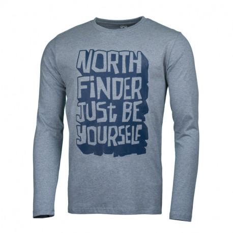 NORTHFINDER men's t-shirt cotton be yourself melange FAUSTO