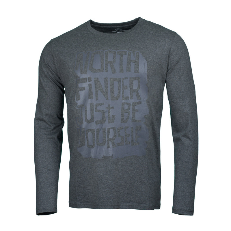 NORTHFINDER men's t-shirt cotton be yourself melange FAUSTO - Universal technical t-shirt with highly breathable and elastic fabric designed for sport. Effectively wicks sweat away and maintains comfortable body climate.
