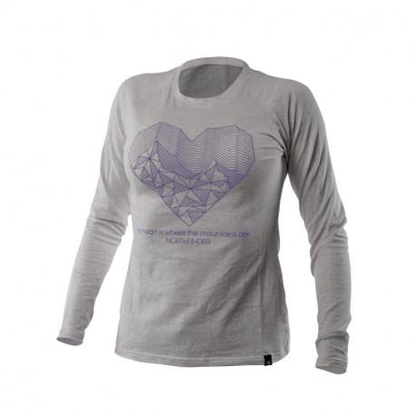 NORTHFINDER dámske tričko cotton heart melange BIBIANA