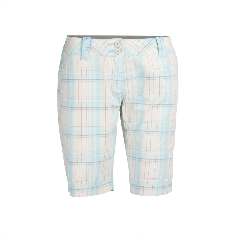 NORTHFINDER women's shorts check style LIBBY - Thanks to comfortable, casual cut, freedom of movement is ensured. Attractive colour scheme. Ideal for everyday wear during summer days.