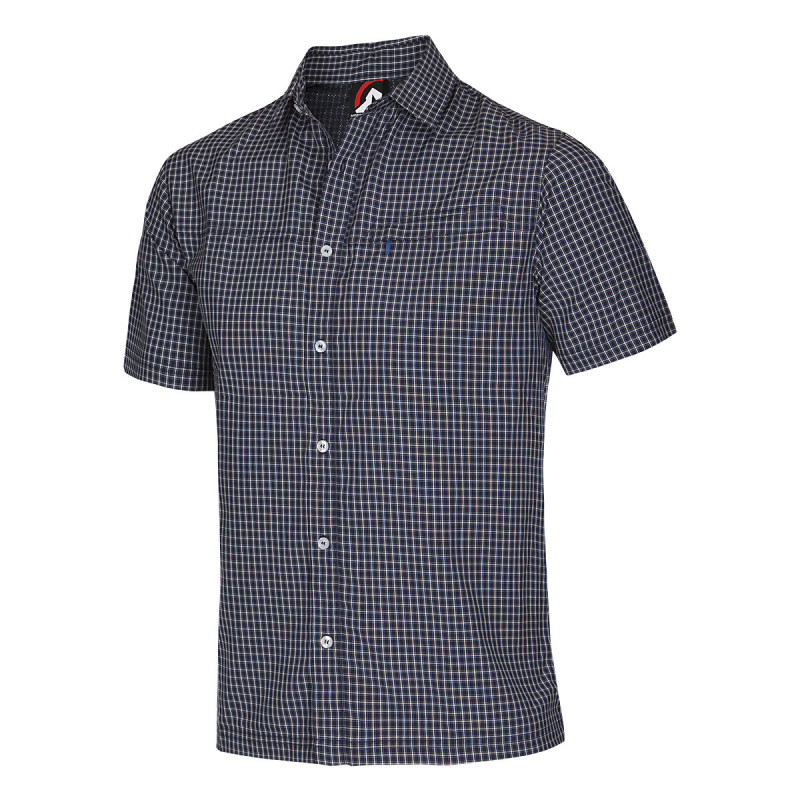 NORTHFINDER men's shirt outdoor technical quick drying NICHOLAS - This shirt made of sweat wicking and quick drying material is suitable for outdoor activities, as well as casual wear in the city and nature.